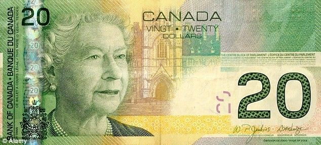 Canada 20 Dollar Note tops out at 9 on our list of beautiful banknotes