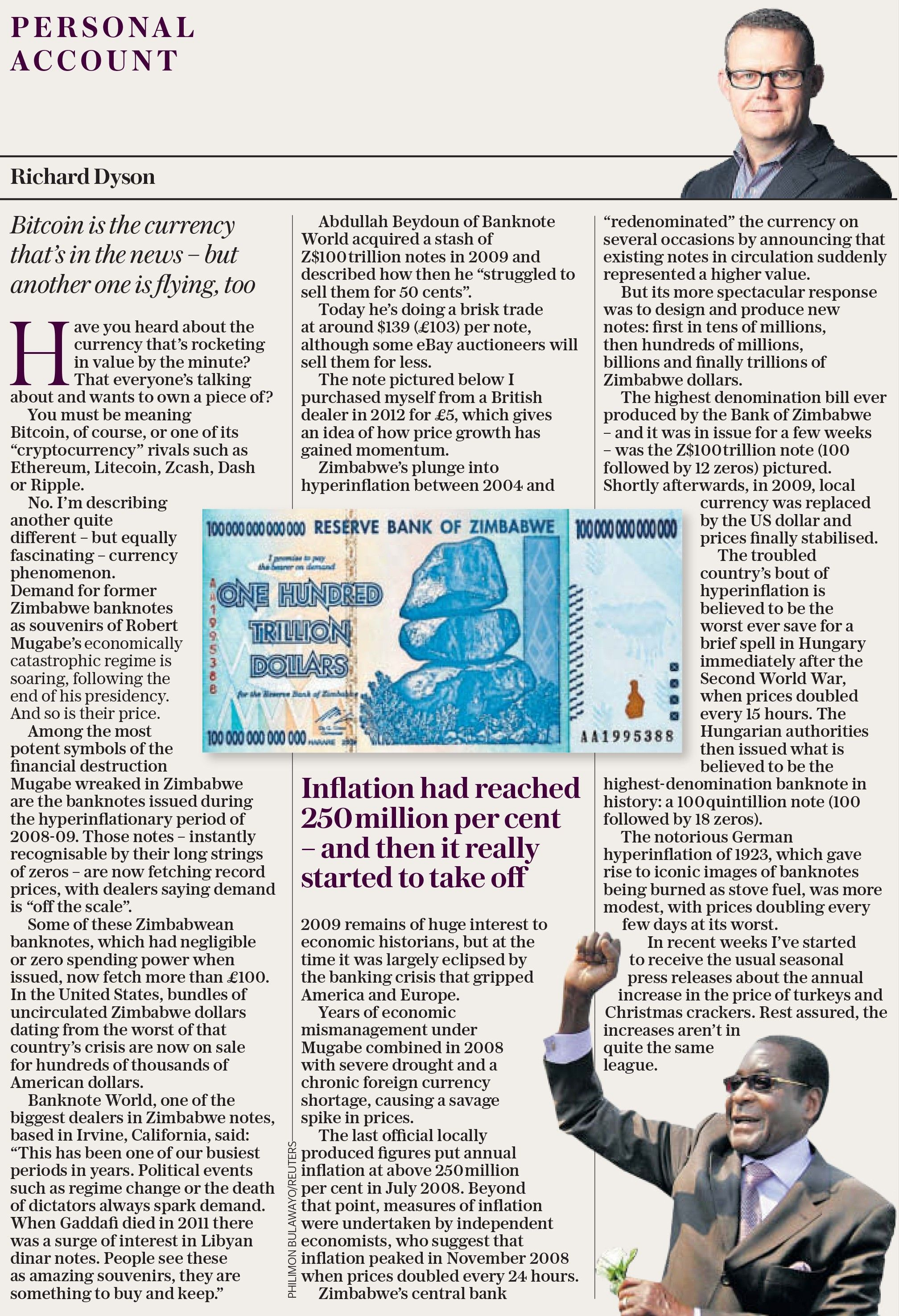 Banknote World featured on the telegraph