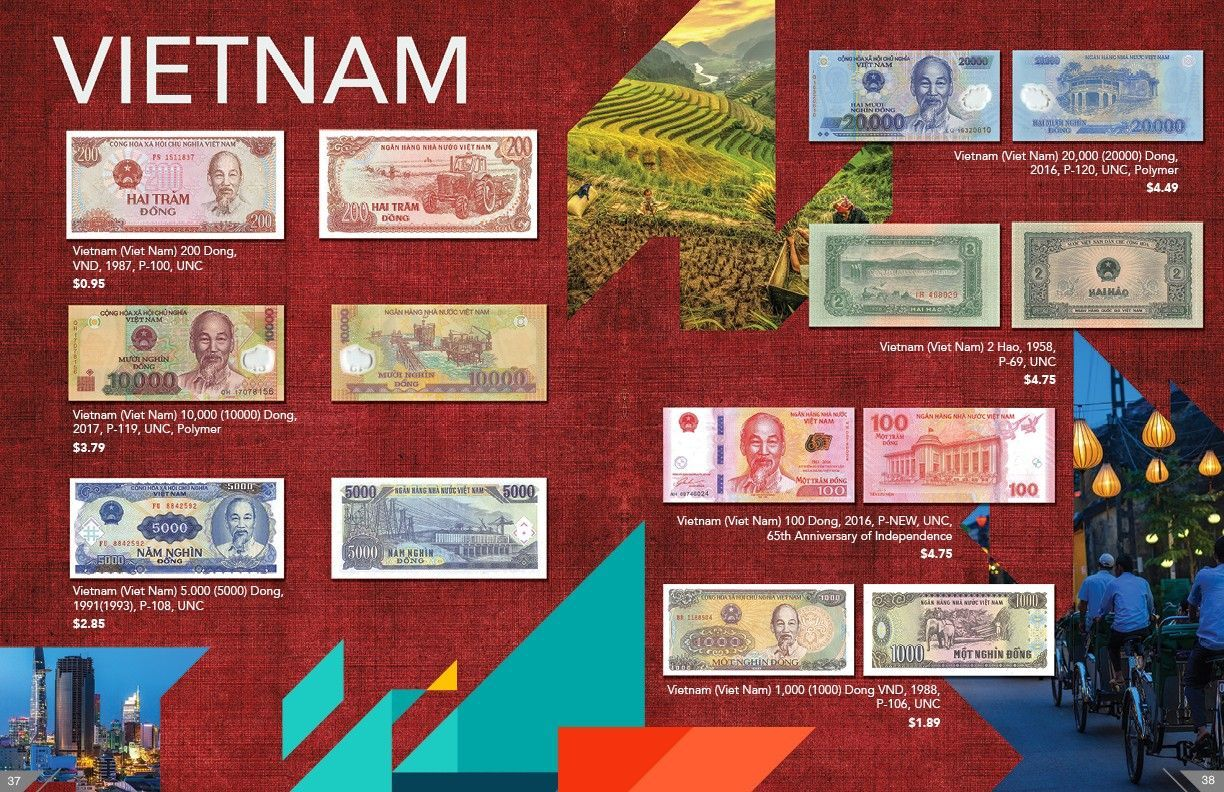 banknote world has vietnamese dong in stock
