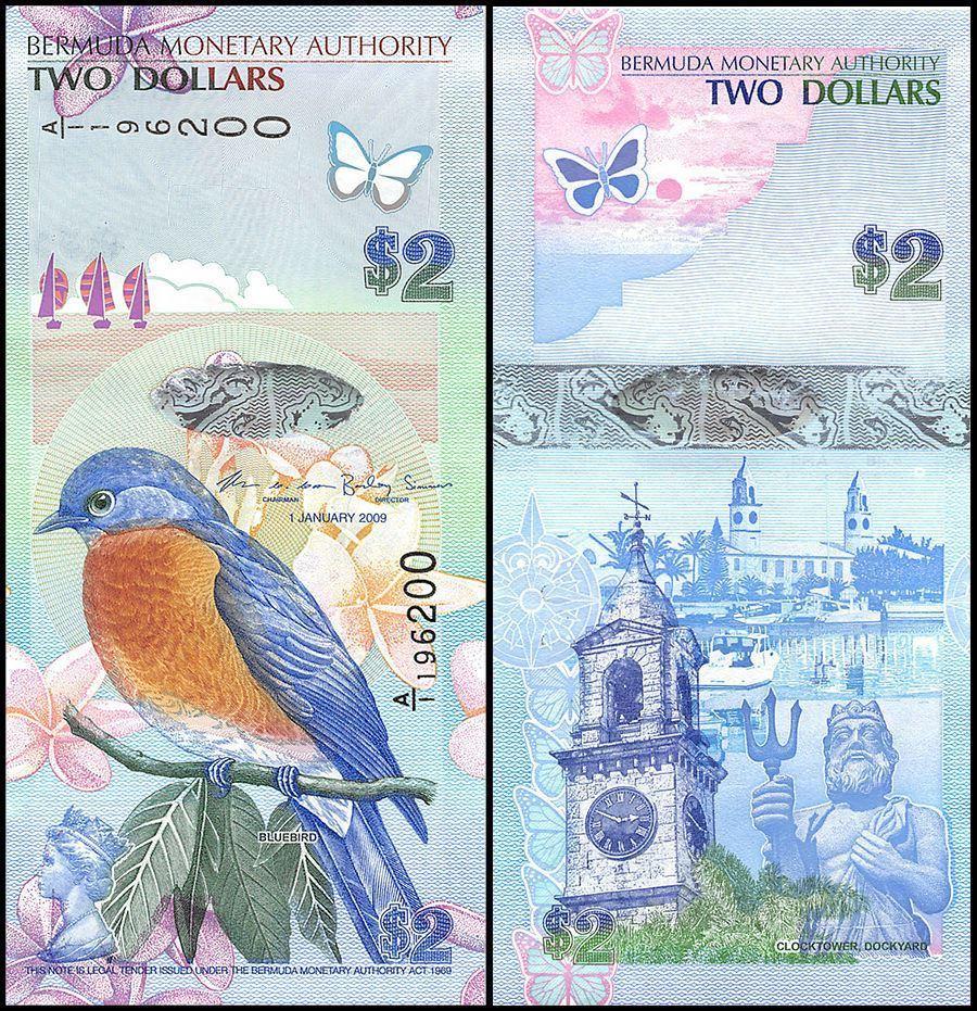 Bermuda $2 Dollar Banknote