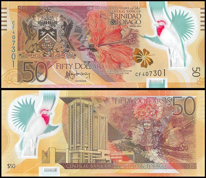 $50 Dollars Trinidad & Tobago's Banknote