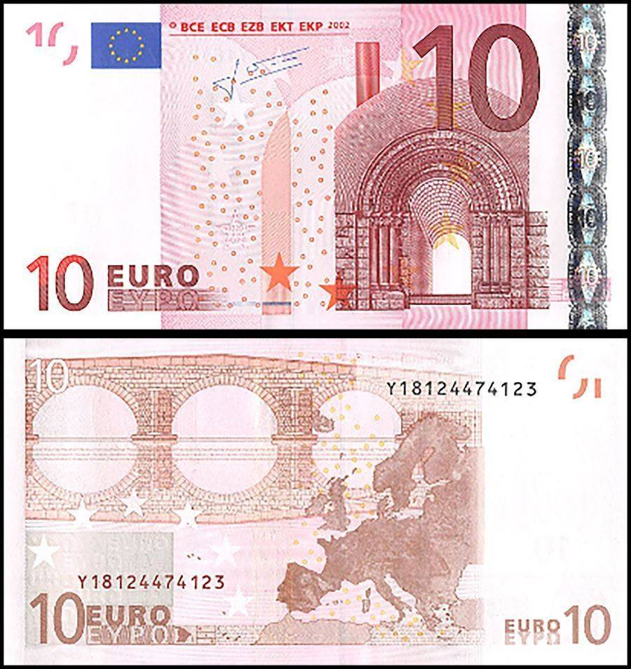 European Union (Greece) 10 Euros Banknote, 2002, P-9y, UNC, Prefix-Y