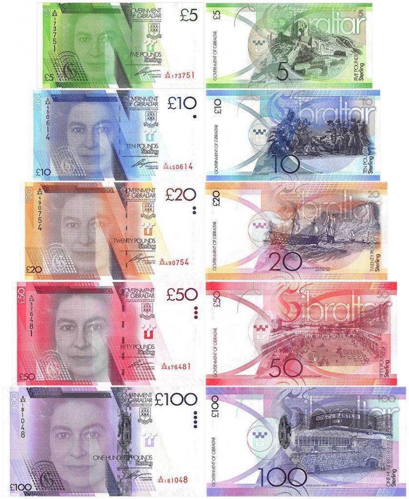 gibraltar banknote set