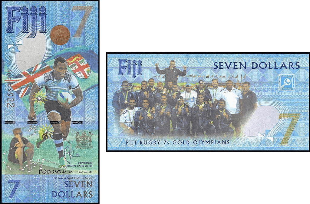 Fiji 7 Dollars | 2017 | P-120 | Featuring the Rugby 7's National Rugby Team |