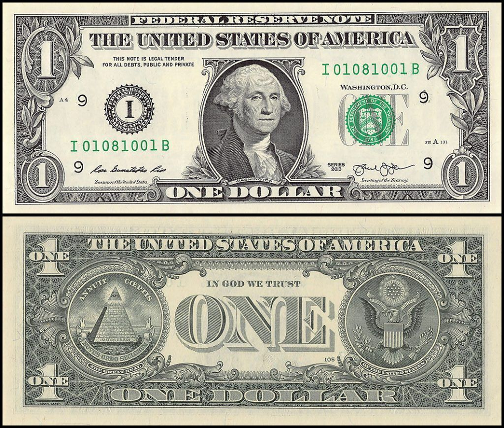 US $1 which eventually replaced the Colon currency