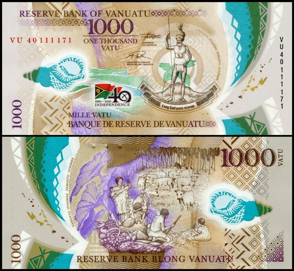 Vanuatu 1,000 Vatu | 2020 | Commemorative Release - 40 Years of Independence