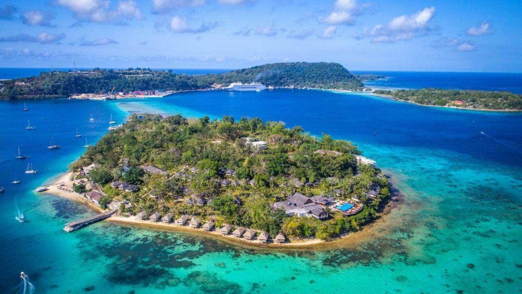 Vanuatu Aerial View - Located in the South Pacific Ocean