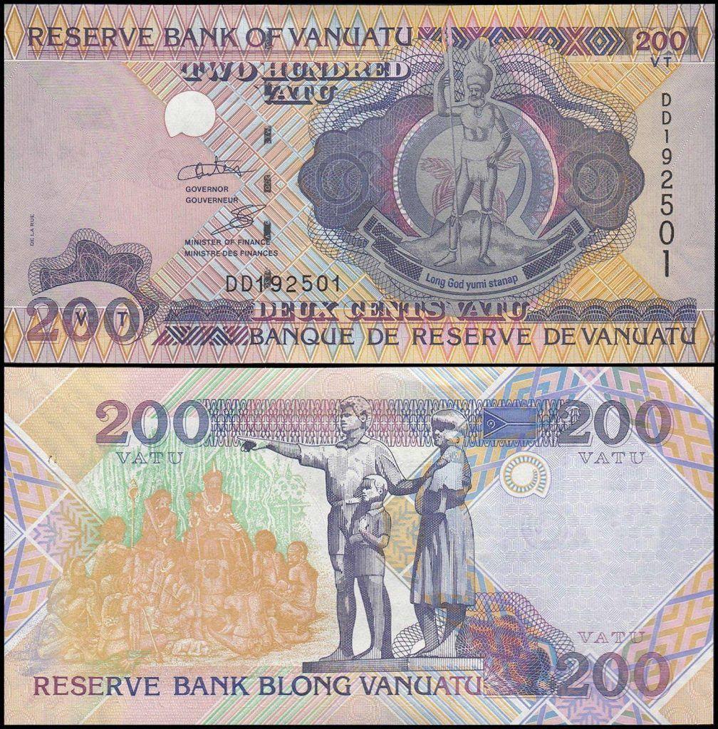 Vanuatu 200 Vatu | 1995 | Previous Vanuatu Banknotes
