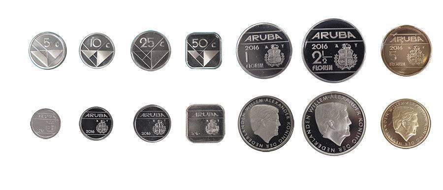 Aruba Cents and Florin coin set