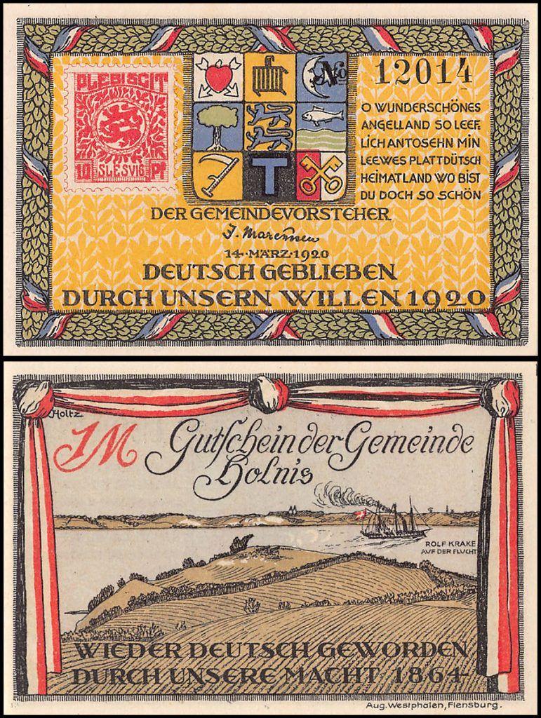Germany | Holnis 1 Mark Notgeld | 1920 |