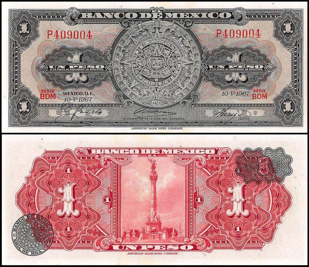 Mexico 1 Peso | 1967 | P-59J | Series BDM |
