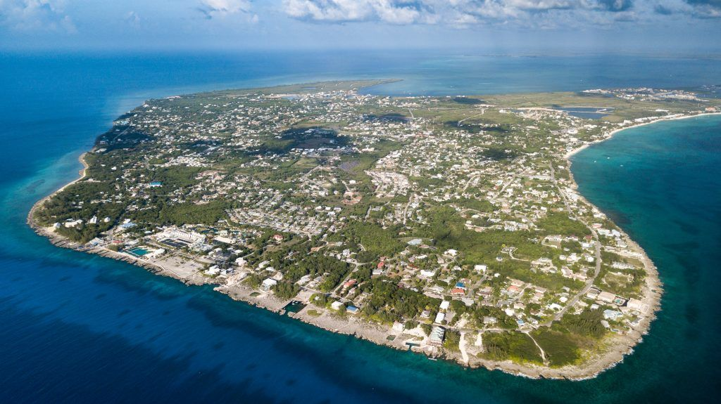 Aerial View of the Cayman Islands