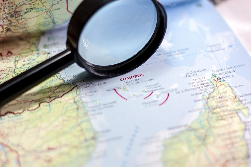 Map of Comoros Location