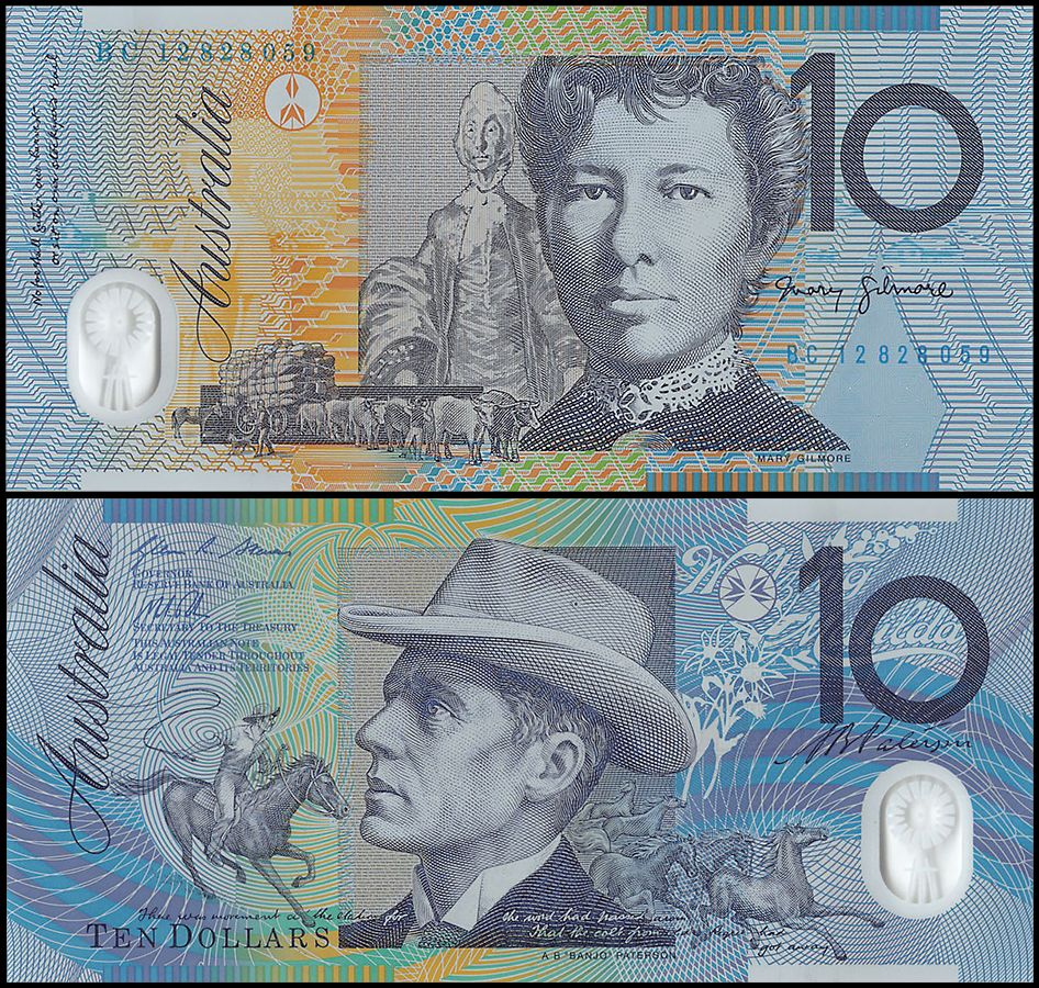 Australia 10 Dollars   2012   P-58f  