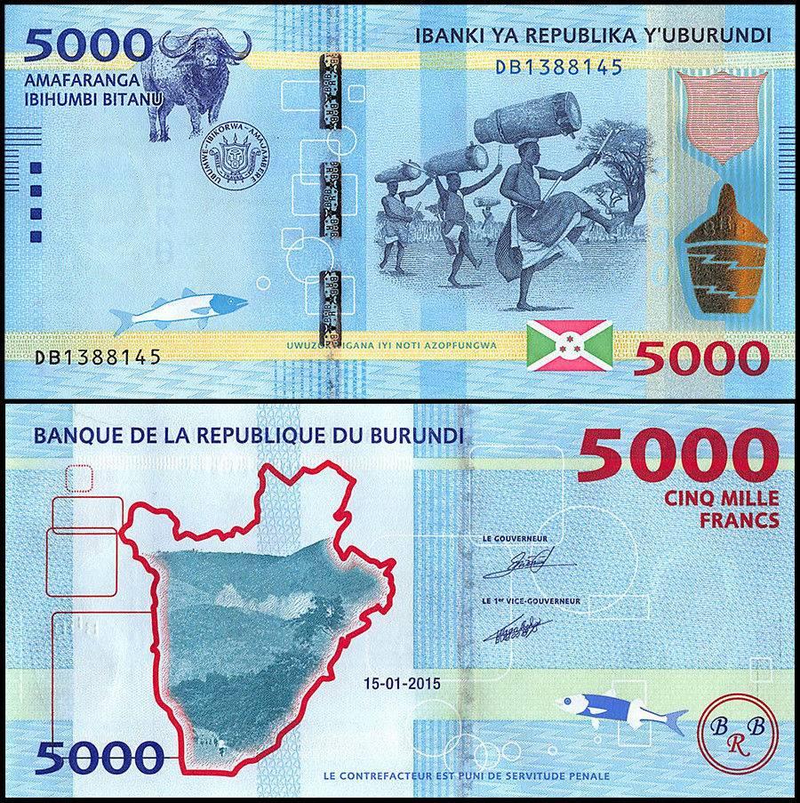 Burundi 5,000 Francs | 2015 | P-53 |