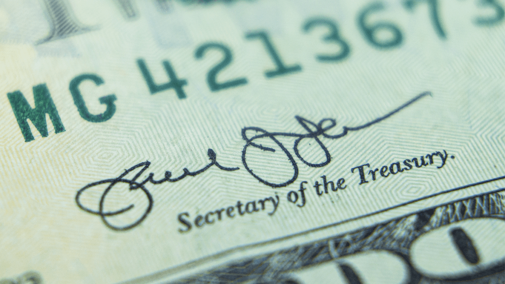 Signature on USD Banknotes