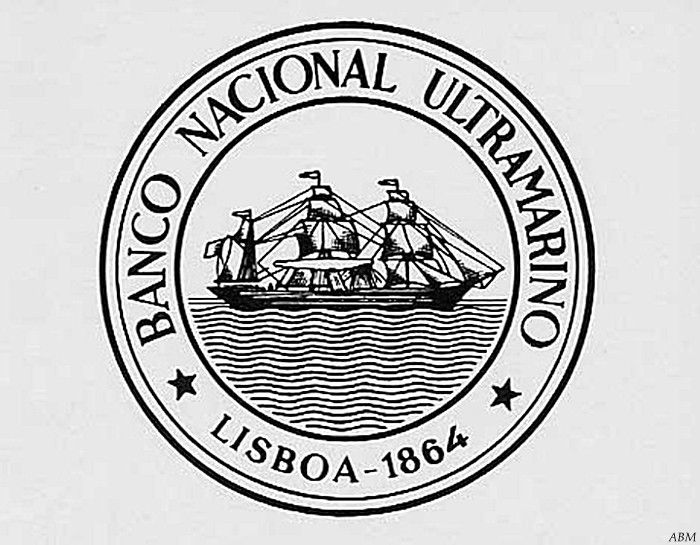 Seal of Portuguese Bank: Banco Nacional Ultramarino who issued Cape Verde Banknotes