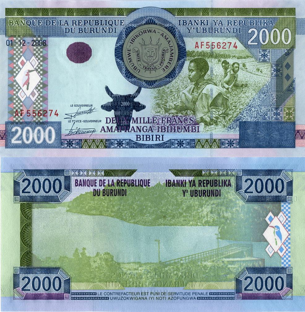 Burundi 2,000 Francs   2008   P-47  