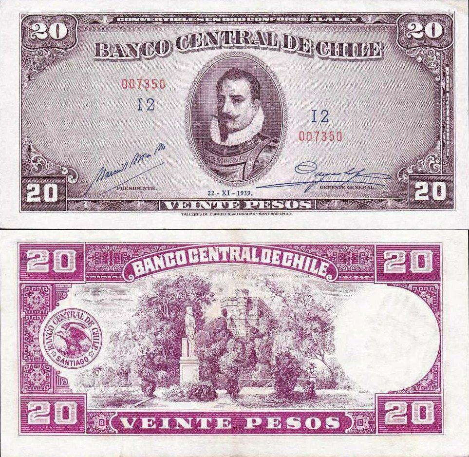 Chile 20 Pesos | 1939 | P-93a |