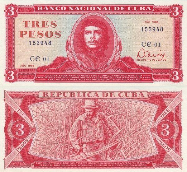 Cuban 3 Pesos | 1984 | P-107a.2 |