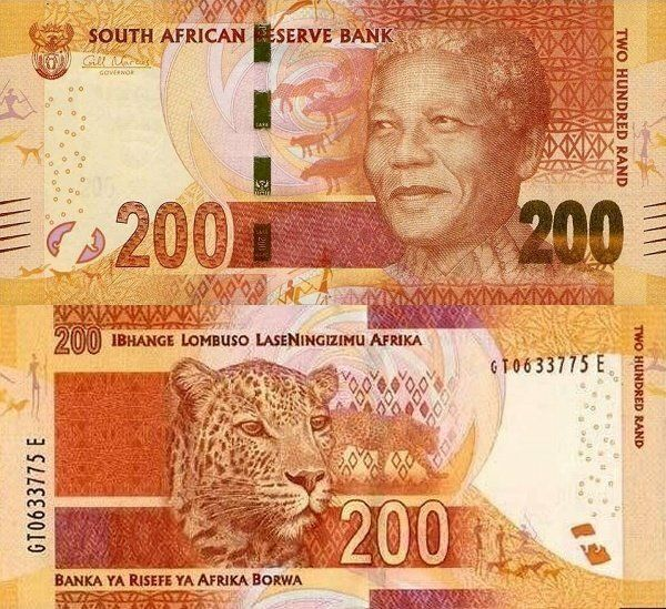 South Africa 200 Rand features Nelson Mandel a former activist and politician. He is in the category of professions on banknotes