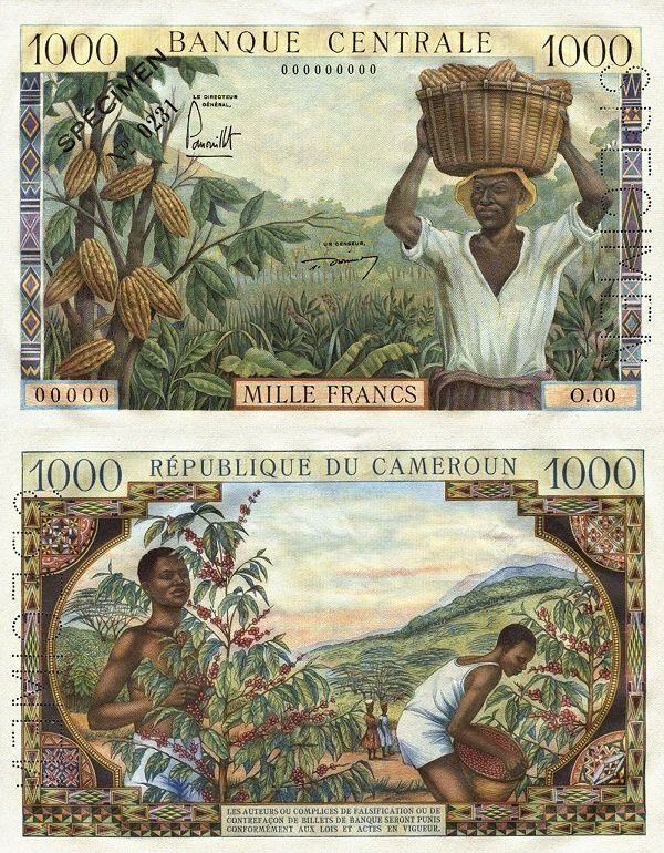 Cameroon 1,000 Francs   1961   P-7s  