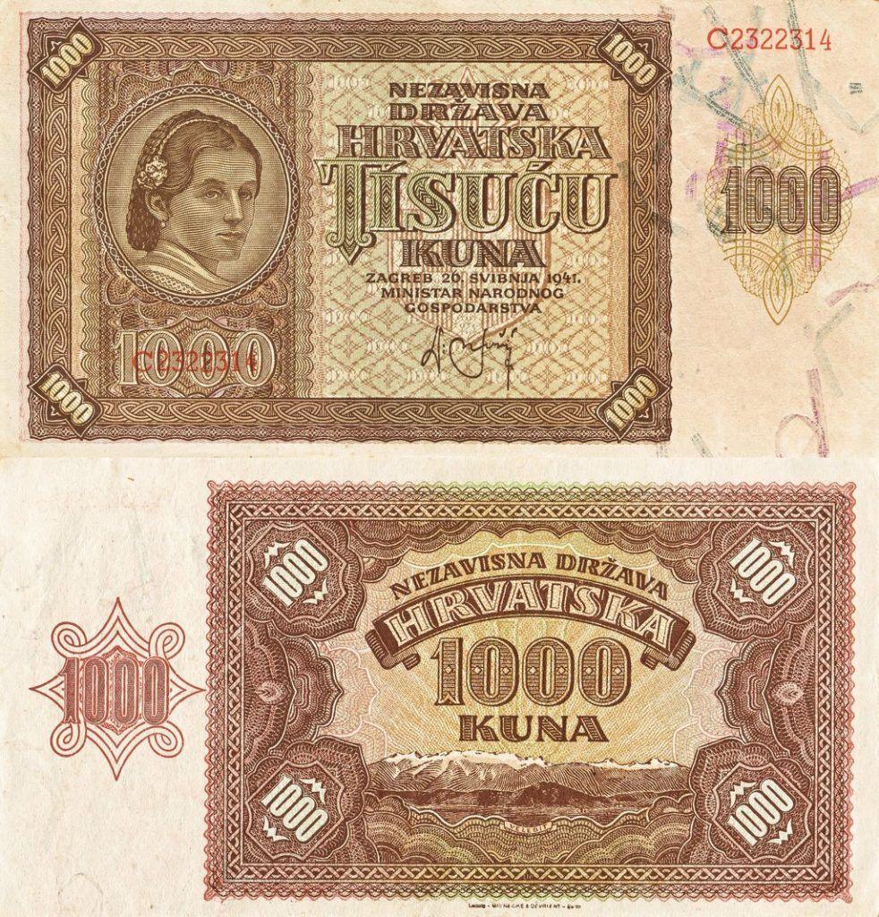 Croatia 1,000 Kuna | 1941 | P-4a |