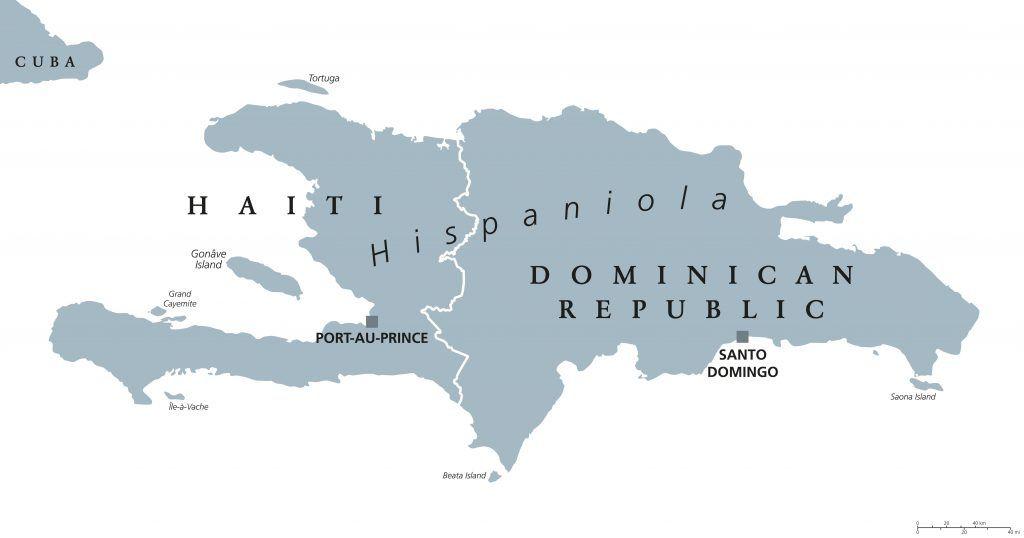 Island of Hispaniola - Consists of Haiti & The Dominican Republic