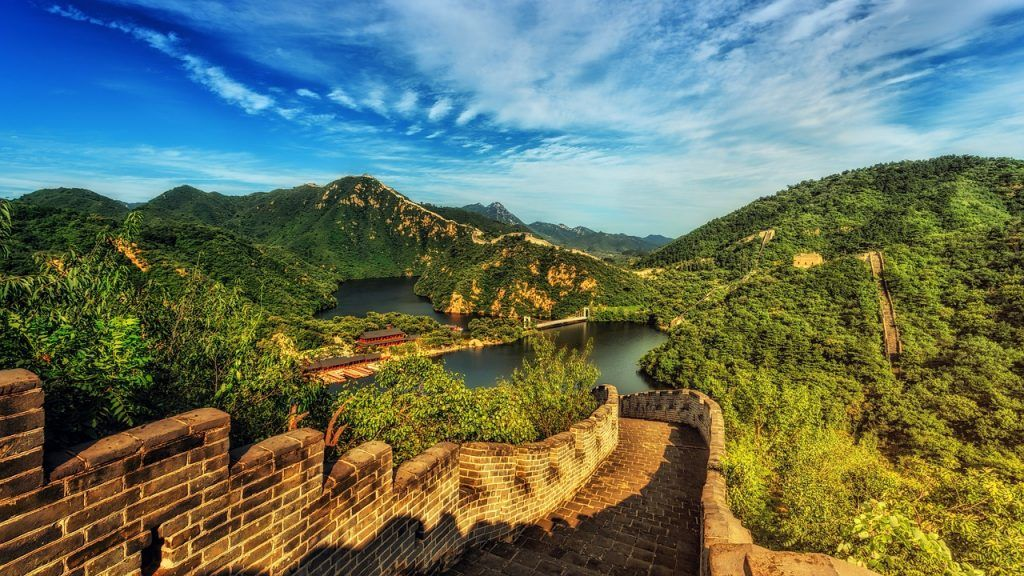 Scenic View of Great Wall of China