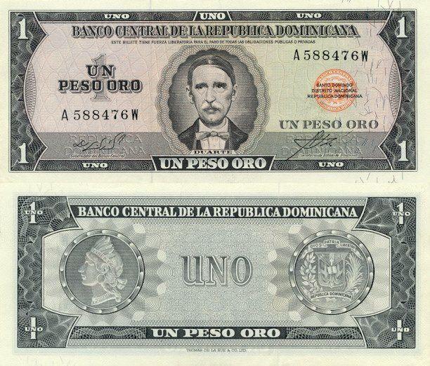 Dominican Republic 1 Peso Oro   1970   P-99a.3  