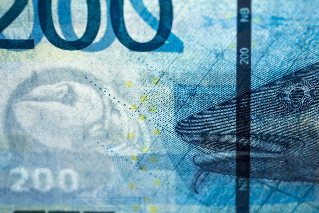 Norwegian 200 Kroner - Watermark and security thread