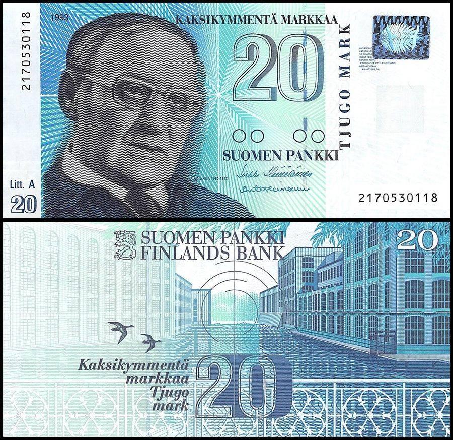Finland 20 Markkaa | 1993 | P-123 |