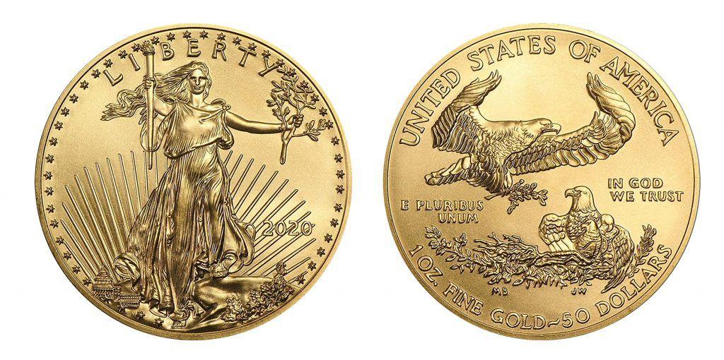 Modern day golden eagle coin