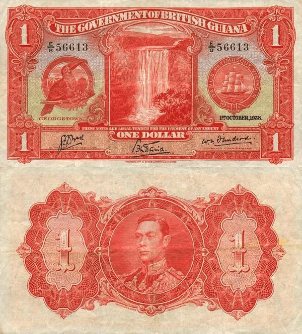 Guyana 1 Dollar | 1938 | P-12b |