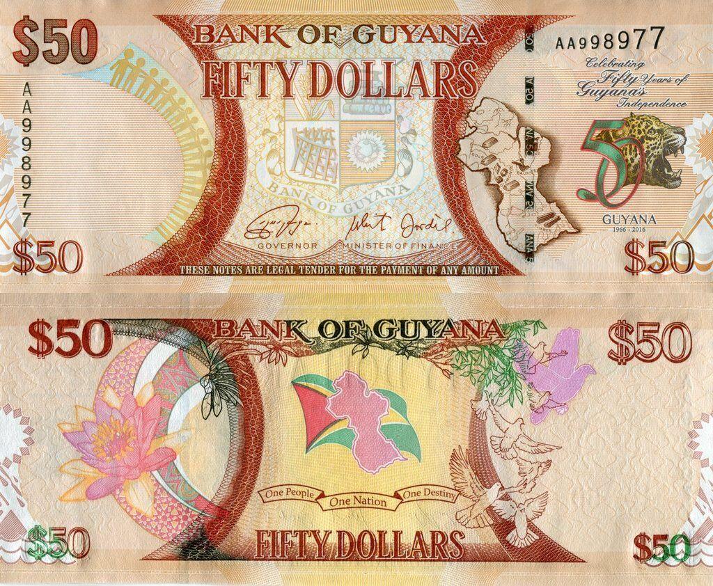 Guyana 50 Dollars | 2016 | P-41a |