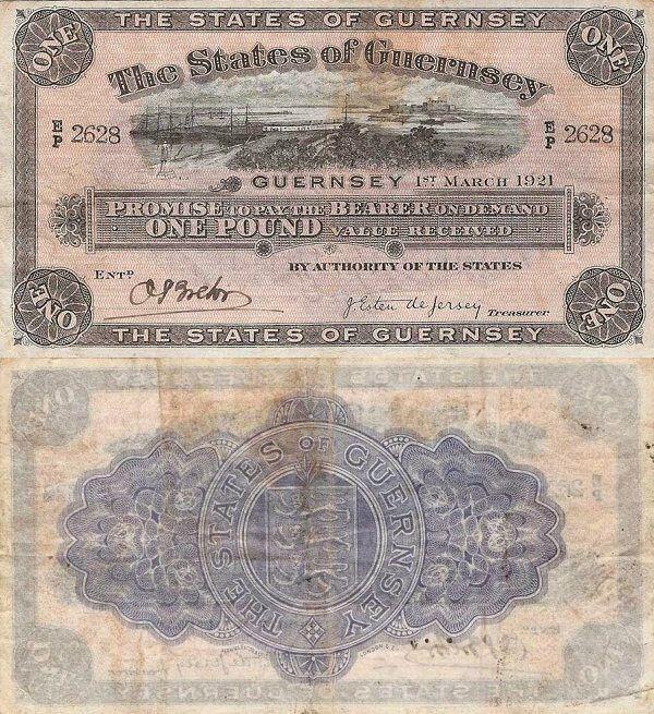 Guernsey 1 Pound | 1921 | P-11a.1 |