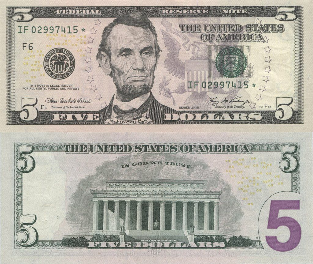 United States 5 Dollars 2006 | P-524r | Star/replacement banknote