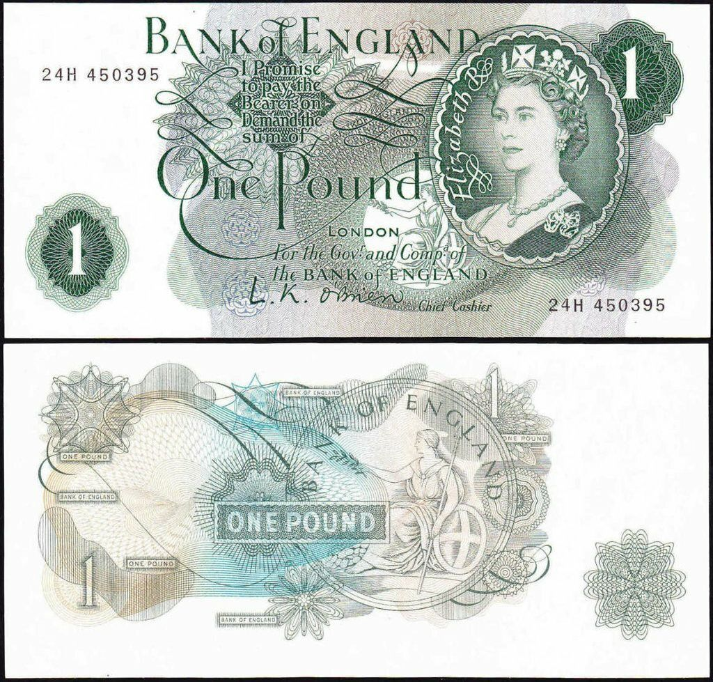 Early banknote featuring queen Elizabeth