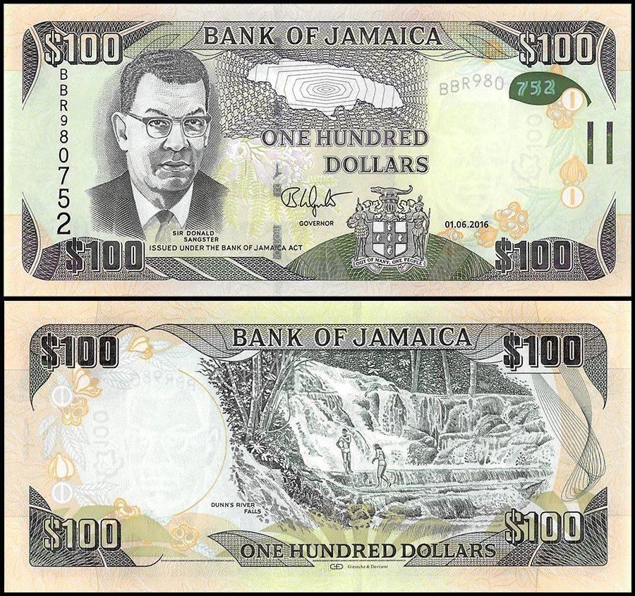 Jamaica 100 Dollars, 2016