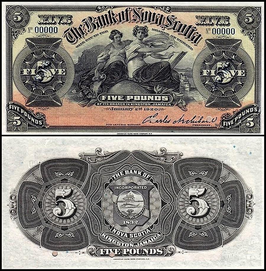 Jamaica 5 Pounds, 1900