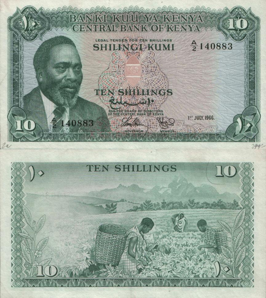 Kenya 10 Shillings | 1966 | P-2a |