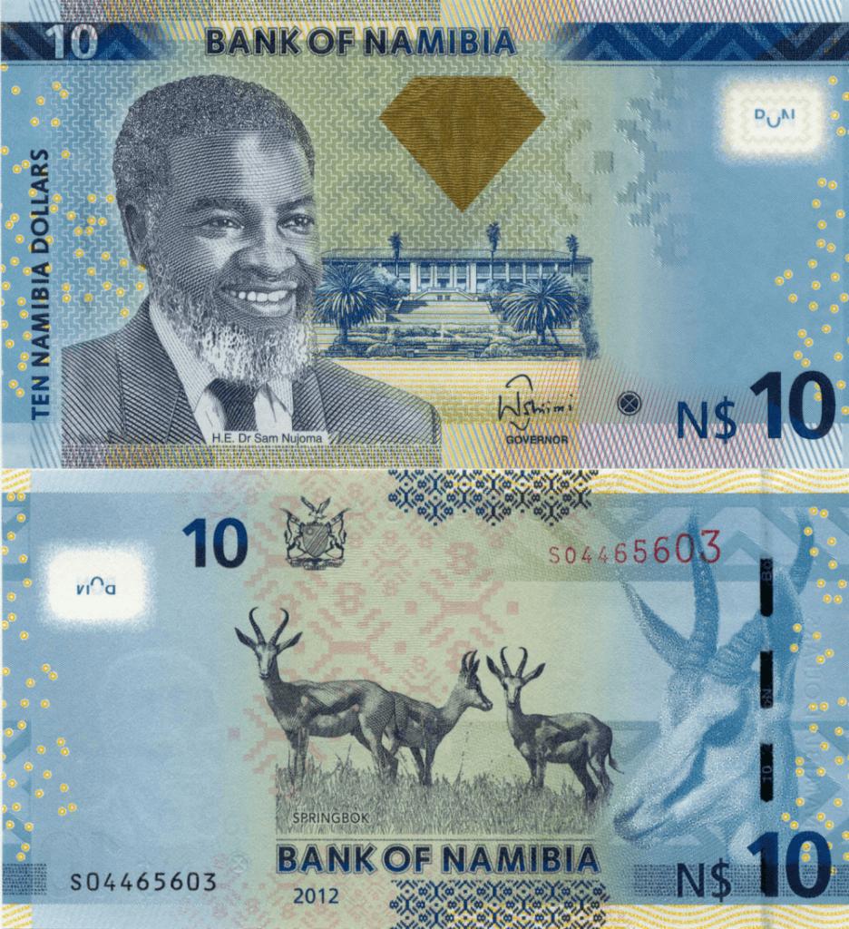 Namibia 10 Dollars, 2012