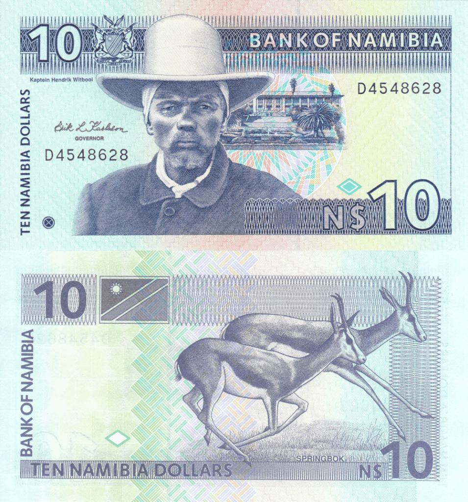 Namibia 10 Dollars, 1993