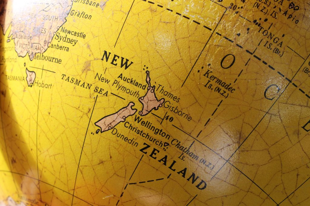 New Zealand Location On a Map
