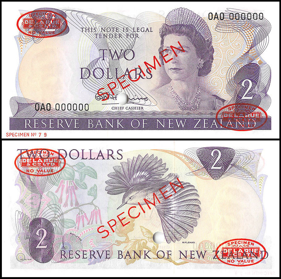 New Zealand 2 Dollars, 1967