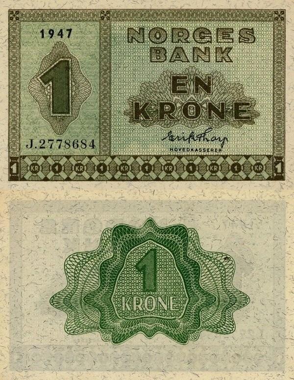 Norway 1 Krone, 1947