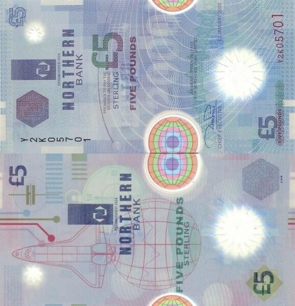 Northern Ireland 5 Pounds, 2000