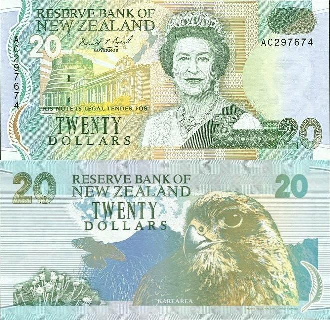 New Zealand 20 Dollars, 1992