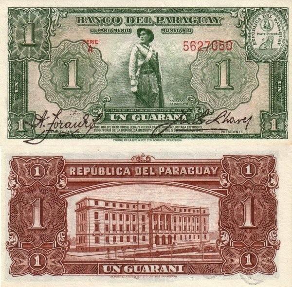 Paraguay 1 Guarani, 1943