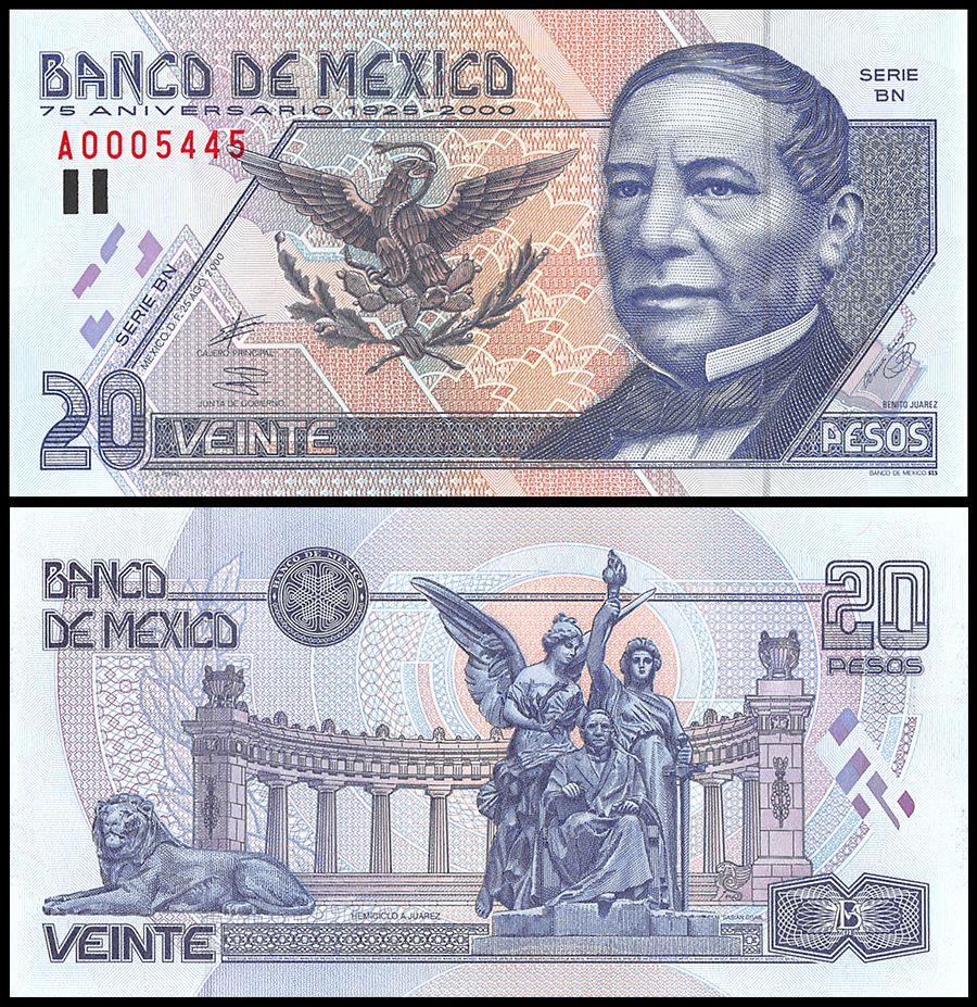 10 BANKNOTES MEXICO SET W//8 PIECES 5 50 500 /& 1000 PESOS 20 50 100 OLDER